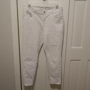 White Denim Skinny Jeans